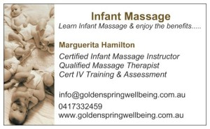 baby massage card